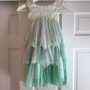 Beautiful sea glass green chiffon dress